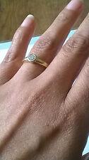 Fair Cut Round Yellow Gold Fine Diamond Rings