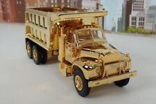 1st Gear 1/34 Scale No.19-2678 Gold Plated 1960 Mack B-61 Model Dump Truck M1268