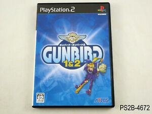 Gunbird 1&2 Playstation 2 Japanese Import PS2 1 & 2 Gun Bird Japan US Seller B