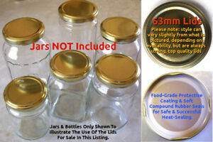 63mm BPA-Free Lids x50 © Recycle Jars for Preserving! Fills 500g Postage Rate!