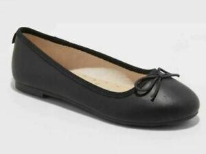 Girls' Stacy Slip-On Ballet Flats Black - Cat & Jack - CHOOSE SIZE