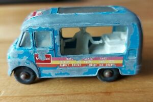 LESNEY 1960's COMMER ICE CREAM CANTEEN No 47 Lyons Maid Toy Vehicle Van