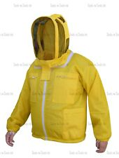 Yellow Three Layers Mesh Ultra Beekeeping Jacket Bee Ventilated Cool Air X-Large