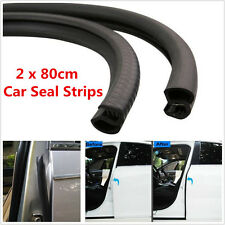 2Pcs B Pillar Car Door Seal Strip Rear Edge Trim Rubber Sealing Strips Windproof