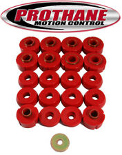 Prothane 6-107 1980-1996 Ford Bronco Body Mount Bushing Kit 20 Piece Red