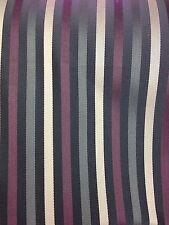 Kensington Small Stripe Fabric Curtain /  Cushion / Upholstery 140 Cm Width