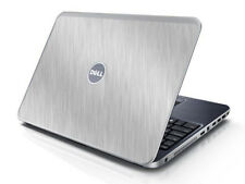 BRUSHED ALUMINUM Vinyl Lid Skin Cover fits Dell Inspiron 15R N5010 Laptop