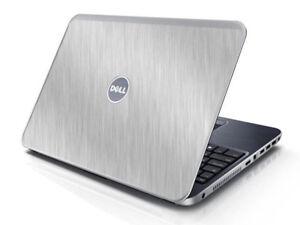 BRUSHED ALUMINUM Vinyl Lid Skin Cover fits Dell Inspiron 15R N5010 Laptop