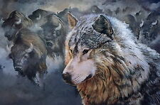 Buffalo And Wolf Men T-Shirt Tee S M L XL 2XL 3XL