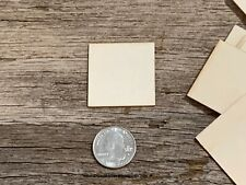 50 blank 1.5 inch wooden craft squares, DIY craft supply 1-1/2 inch wood squares