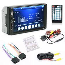 7'' HD Bluetooth Touch Screen Car Stereo Radio 2 DIN FM/MP5/MP3/USB AUX + Camera