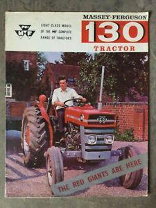 MASSEY FERGUSON 130 TRACTOR BROCHURE 60s RARE FARM SALES LEAFLET CLASSIC MODEL
