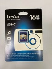 Lexar 16GB SD SDHC Secure Digital Memory Card - New