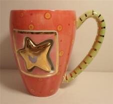 CHRISTMAS GLITZ Coffee Mug by DEPARTMENT 56 Star Motif GOLD STAR MOVES ON SPRING