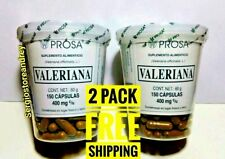 2 Pack VALERIAN Extract Valeriana 400mg ea 300 Caps Relieve Stress and Anxiety