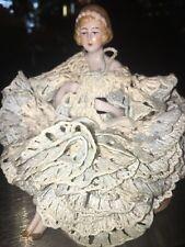 "Antique German Porcelain Half Doll/Pincushion 5"""