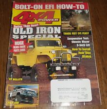 4X4 POWER February 1999 '47 Willys, '76 F-100, Bolt-on EFI How-to, Install Brake