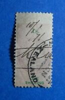 1867 1S NEW ZEALAND STAMP DUTY REVENUE BAREFOOT# 91 USED DIE I PERF 10   CS33146
