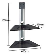 G-VO Floating Glass TV Wall Mount Bracket with 2 Shelves SKY/DVD