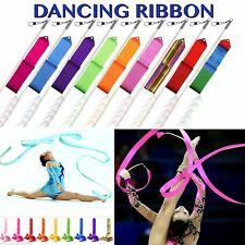 Gym Gymnastics Dancing Ribbons 10 Colors Baton Twirling Rods