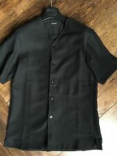 BNWT Lemaire - Great Condition black collarless shirt  - Small