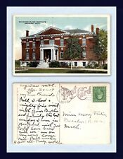 MICHIGAN BLIND INSTITUTE SAGINAW POSTED 1917 TO MISS MARY FOSTER OF DECATUR