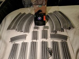 Lionel ,Lot Of 24 Pcs Of Fastrack Track With #6-14198 CW 80 Watt Transformer,C7
