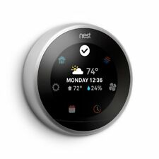 NEW Nest Smart Learning Wifi Thermostat, 3rd generation, Stainless Steel SEALED