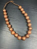 """Bohemian Boho  Vintage  Large Beaded necklace Hook Clasp Real Copper Metal 22"""""""