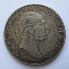 S0349 - Österreich - Ungarn 5 Kronen, Franz Josef II, 1908, Silber