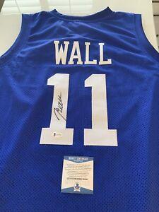 John Wall Autographed/Signed Jersey Beckett COA Kentucky Wildcats