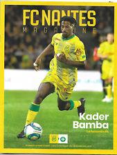 FC NANTES - ASSE ST ETIENNE  Magazine N°22 10 nov 2019 Kader Bamba Programme