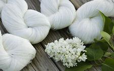 Cobweb linen yarn Set of 4 linen skeins - natural undyed white linen