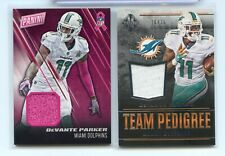 DeVANTE PARKER 2016 MAJESTIC JERSEY /75 PANINI DAY MATERIAL LOT-2 DOLPHINS