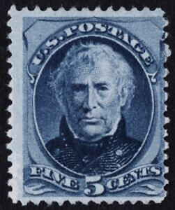 US Sc# 179 *UNUSED NG LH* { 5c BLUE ZACHARY TAYLOR } GREAT FROM 1875 CV$ 240.00