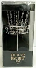"Bottle Cap Disc Golf Basket Game Metal 9.5"" Micro Frisbee Office Desktop Gift"