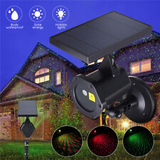 Waterproof Solar Laser Light LED Projector Red&Green Star Outdoor Christmas Lamp