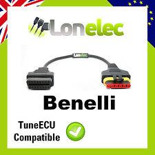 6 PIN TO 16 PIN ADAPTOR INTERFACE CABLE FOR BENELLI BIKES - TUNE ECU TUNEECU