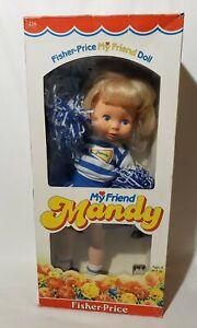 Vintage 1982 Fisher Price My Friend Mandy Doll Cheerleader in Box