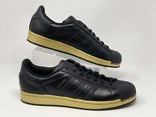 Adidas Originals Mens Shoes Superstar Sneakers Black Gold Low Top BB811 sz 12