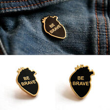 Retro Be Brave Pin Badge Brooch Lapel Pin Men Women Accessory Gift