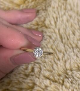 Hearts on Fire diamond ring .53ct excellent make unique gold & platinum setting