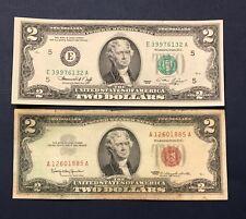 1976 $2.00 Bicentennial Bill CU Richmond & 1953 / 1963 $2.00 Red Seal