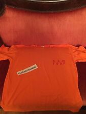 Size M TLOP Kanye West Yeezy Meadows Festival Merch T-shirt ORANGE NEW YORK EXCL