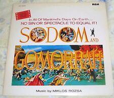 SODOM AND GOMORRAH (Miklos Rozsa) rare original mint Japan stereo lp (1979)