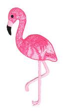 ad06 Flamingo Pink Rosa Vogel Aufnäher Bügelbild Applikation Patch 4,6 x 10,2 cm