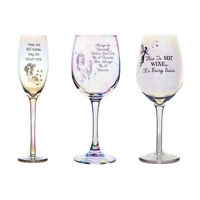 Unicorn Fairy Irredescent Rainbow Lustre Champagne Wine Glass Flute in Gift Box