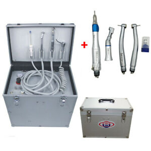 BD-402 Portable Dental Turbine Unit +Air Compressor+3-Way Syringe+Handpiece Kit