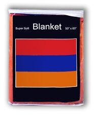 Armenian Flag Fleece Blanket *NEW* 5 ft x 4.2 ft. Throw Cover Travel Armenia Hye