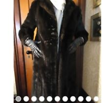 Womens Size Med GENUINE Elegant Black MINK Fur COAT Recent Appraisal